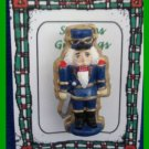 Christmas PIN #182 Vintage Soldier Boy Hand Painted Pin VGC (1 3/8 tall) HOLIDAY