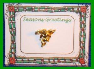 Christmas PIN #156 Angel Goldtone Tac Pin or Lapel VGC