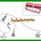 Christmas Necklace Christmas Charm Necklace Set 5-Charms