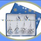 Christmas Earrings Holiday Star--Snowflake--Angel Pierced