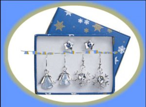 Christmas Earrings Holiday Star--Snowflake--Angel Pierced