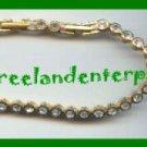 "Bracelet Tennis & Earring Set - Goldtone Size 7"" or 8"""