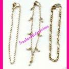 "Bracelet Goldtone Chain Bundle Set of 3 - Size Large 8"""