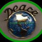 Christmas PIN Peace On Earth Blue Enamel & Goldtone Tac