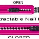 Nail Retractable Nail File ~ PINK Color ~ NIP ~