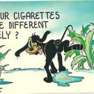 Post Card JOKE Humor Comic Do Your Cigerettes Taste Different Lately-Dog Tobacco