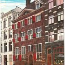 Post Card Europe Amsterdam Rembrandt House,  Red Nederland Stamp 40C ~1975~ VTG
