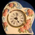 Clock VTG Floral Heart Clock From the Avon Gift Collection ~Quartz~Roses/Flowers
