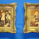 Vintage 2 Chalkware Plaques By French Auguste Renoir By Miniature Masters Inc NY
