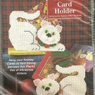 CRAFTS Needlecraft Shop Christmas Trimmings Kittens Card Holder #410029 974053
