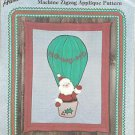 CRAFTS Aunt Marthas Christmas Santa HO HO HO Quilt-Wall Hanging Pattern Colonial