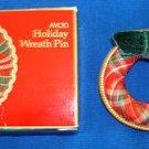 Christmas PIN Avon Holiday Wreath Pin (Cloth) Circa 1984 (New Old Stock)