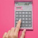 Office: Bejeweled Calculator ~Pink Desktop/Hand Held Calculator~ New In Box