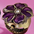 "Ring Spring Fling Ring Watch ""FLOWER"" Purple Burnish Brass (One size fits most)"