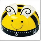 Timer Busy Little Bee Kitchen Timer 60 Minute Kitchen Timer (Yellow-Black-White)