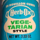 Collectible Herb-Ox Vegetable Bouillon Cubes 25 Ct per 3.33-Oz Container EMPTY
