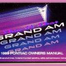 Book 1989 Pontiac Grand Am Owner's Manual 89 LE/SE ex-condtn