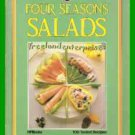 Book Four Seasons Salads By Jackie Burrow 1985 Paperback Cookbook Good Condition