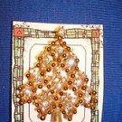 Christmas PIN #0392 Vintage Goldtone & Crystal Ice Sparkly Christmas Tree Pin