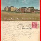 Post Card MD 1139 Fort Meade Heights Fort Meade Md Linen 1953