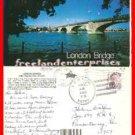 Post Card AZ London Bridge Lake Havasu City, AZ 1990 with stamp