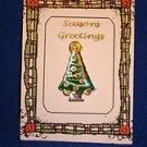 Christmas PIN #0422 SWIB Tree Enamel Goldtone TAC Pin ~ Circa 1980 ~