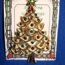 Christmas PIN #0407 Gerrys Vintage Christmas Tree Goldtone & Enamel Ornament Pin