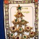 Christmas PIN #0403 Gerrys Vintage Christmas Tree Goldtone & Enamel Ornament Pin
