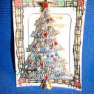 Christmas PIN #0386 Vintage Silvertone, Goldtone & Rhinestone Christmas Tree Pin