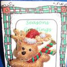 Christmas PIN #0374 Signed Danecraft Skating Bear wRed Hat+Horns Goldtone Pin