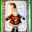 Christmas PIN #0292 Santa with Wiggly Legs Goldtone & Enamel HOLIDAY Brooch