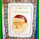 Christmas PIN #0279 Santa Goldtone Enamel Red Hat & White Beard HOLIDAY Brooch