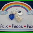Christmas PIN #0184 Inspirational Angel Pin PEACE Silvertone Tac Pin HOLIDAY