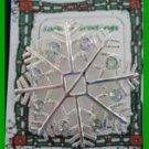 Christmas PIN #0180 Snowflake Crystals/Rhinestones Silvertone Holiday Brooch VGC