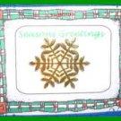 Christmas PIN #0178 Snowflake Goldtone Tac Pin (1 inch)