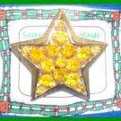 Christmas PIN #0177 Star Yellow/Gold Rhinestones/Crystals Goldtone Pin 1.5 inch