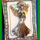Christmas PIN #0167 Signed GCI Silvertone Angel With Halo & Goldtone Wings VGC