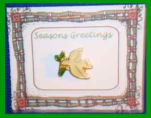 Christmas PIN #0153 Dove with Olive Branch Peace Tac Pin Enamel Goldtone Lapel