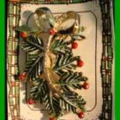Christmas PIN #0097 Vtg Signed Gerrys Pine Tree Bough Branch w/Berries HOLIDAY