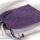 Jewelry Pouch Velour/Velvet type Pouch Lot of 5 Purple Color