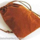 Jewelry Pouch Velour/Velvet type Pouch Lot of 5 Gold/Copper Color