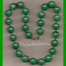 Necklace Beads Green Large Round Beads VINTAGE #132
