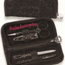 Nail Ladies Essential Set in Zippered Case ~ Clipper-Scissors-Tweezer-Nail File~