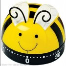 Kitchen Timer Busy Little Bee Timer 60 Minute Timer (Yellow-Black-White)