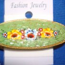 Jewelry #03 Vintage Micro Mosaic Floral Italian Pin/Brooch with Three Flowers