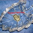 Collectible Dish Crystal Leaf Trinket Dish 24% Lead - Made in Yugoslavia
