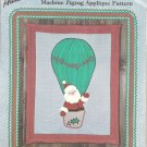 CRAFTS Aunt Martha's Christmas Santa HO HO HO Quilt-Wall Hanging Pattrn Colonial