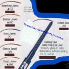 Make Up FEELING FINE Ultra Thin Eye Liner Cobalt Jewel (Quantity of ONE)