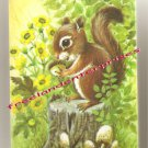 Collectible Playing Cards Squirrel Sitting On Tree Stump Unopened Made in U.S.A.