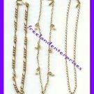 Anklet Goldtone Chain Bundle Set of Three Anklets Size Large 10 inches